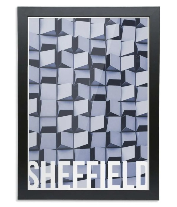 The Cheese Grater (Charles Street) Sheffield Destination Poster Framed Print