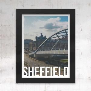 Park Square Sheffield Art Poster Framed Print