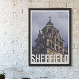 Vulcan Sheffield Framed Art Poster Print