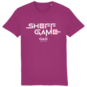Sheff Game (Sheffield Squid Game Parody) Organic Cotton T-Shirt, Orchid Flower