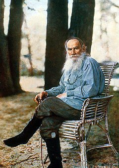 The only known colour photo of Tolstoy (from Wikipedia)