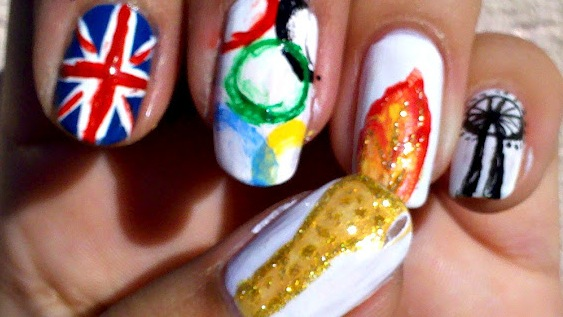 London 2017 Olympic Nails
