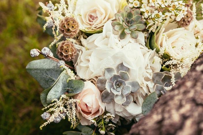 Pastel Flores e Suculentas