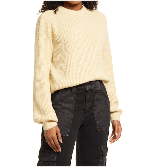 Nordstrom ribbed crop sweater