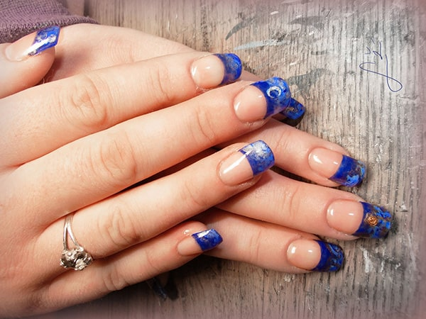 Attractive Blue Gel Nails Art For S