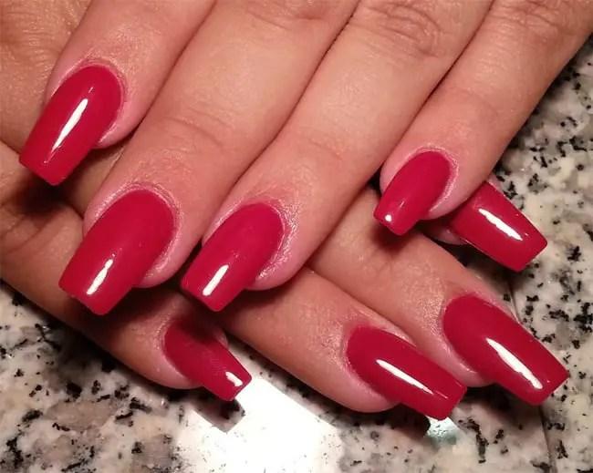 25 Hottest And Cute Red Nail Designs 2018 SheIdeas