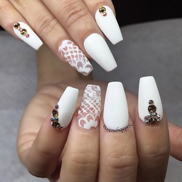20 Best Images Of White Nail Designs 2018 SheIdeas