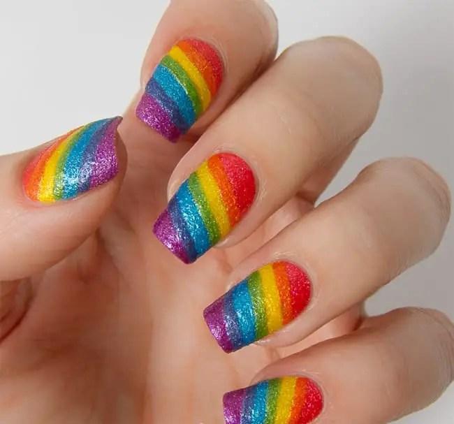 17 Stunning Rainbow Nail Art Designs 2018 SheIdeas
