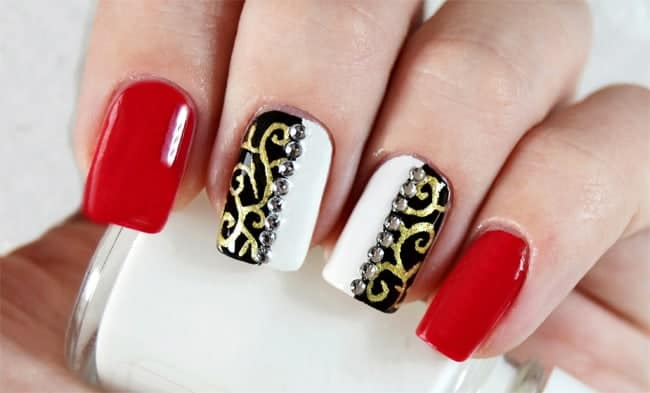 Super Long Nail Art For Christmas And New Year 2017