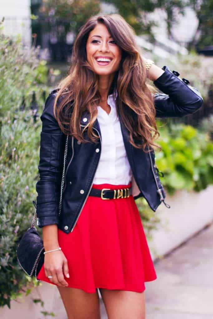 17 Most Beautiful Red Skirt Outfits Images SheIdeas