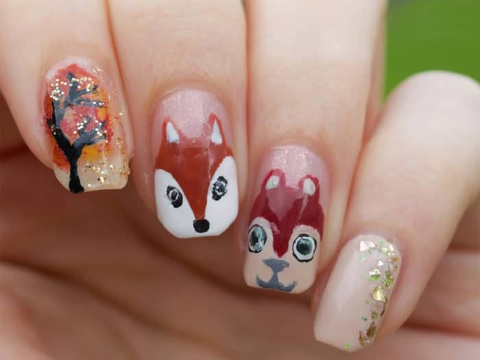 Nice Animals Nail Art Design Images