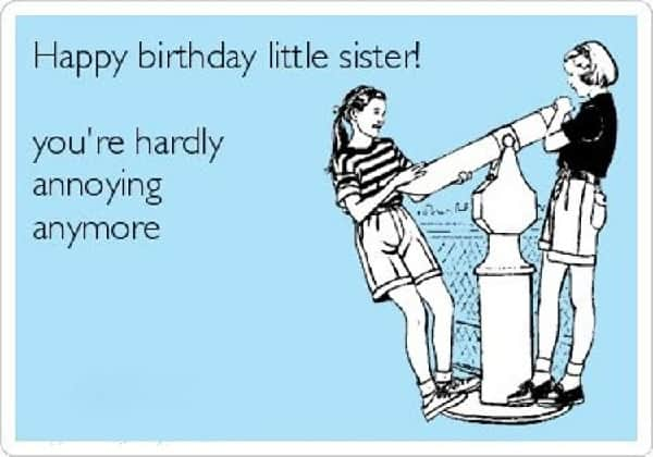 50 Happy Birthday Sister Memes To Make Her Laugh SheIdeas