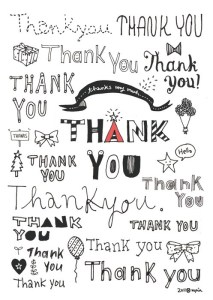 "collage of handwritten ""thank yous"""