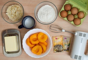 ingredients for peach pie