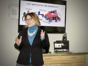 Sheila B Robinson presenting