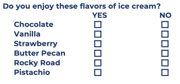 Do you enjoy these ice cream flavors as a series of YES or NO dichotomous questions