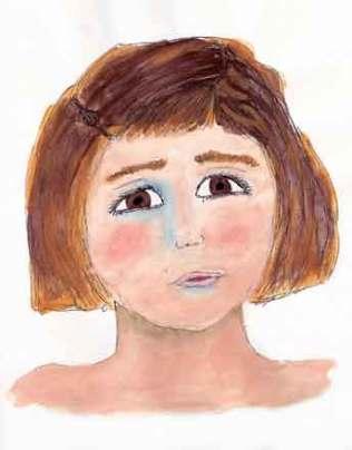 Paige. 5 x 7 watercolor and Ink. 2015 Sheila Delgado
