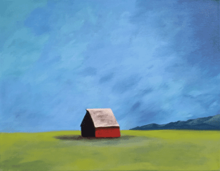 Lonely Landscape. 14 x 18 acrylic on canvas. © 2015 Sheila Delgado. sheiladelgado.com