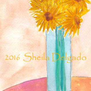 Day 22. 4 x 6 in. watercolor and pencil on 140 lb. Arches cold pressed paper. © 2016 Sheila Delgado