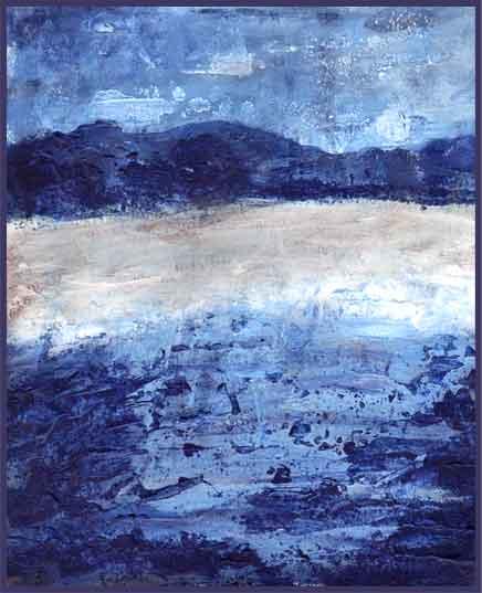 Sapphire Seafront. Project 3, Artbytes One. 2016 Sheila Delgado.