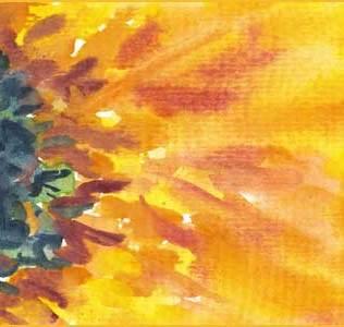 Golden Light. 2.5 x 3.5 ATC. Watercolor on paper. © 2016 Sheila Delgado