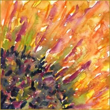 Wide awake. 6 x 6 watercolor on Arches 140 lb. cold pressed paper. © 2016 Sheila Delgado