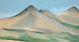 New Mexican landscape, 16.25 x 30, oil on canvas, Georgia O'Keeffe