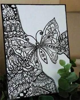 LYA 2017 #4, Linda Yeatman, Butterfly.