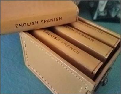 Midget Dictionaries, Burgess & Bowes, LTD., London. Printed in Belgium.