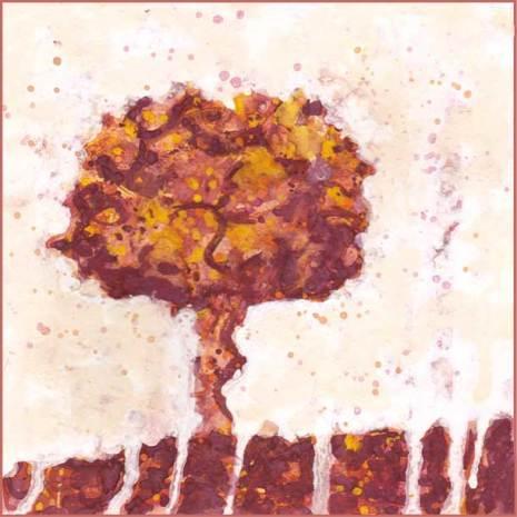 I want to be a tree. 5 x 5 mixed media on paper. © 2017 Sheila Delgado