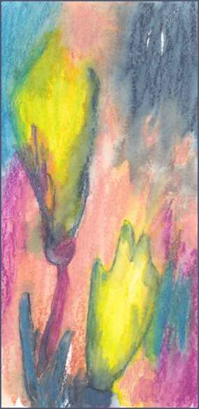 Color Play. 4 x 8 watercolor on paper. © 2017 Sheila Delgado