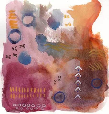 Marks. 6 x 6 watercolor on Arches 140 lb. cold pressed paper. © 2018 Sheila Delgado.