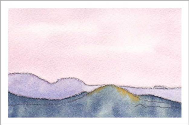 Mingus Day #8. 3.5 x 5 in. watercolor on Arches 140 lb. cold pressed paper. © 2018 Sheila Delgado.