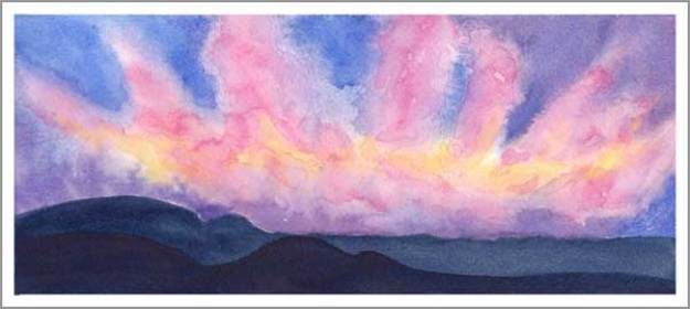 #12, After The Storm. 5.25 x 12 in. watercolor on Arches 140 lb. cold pressed paper. © 2018 Sheila Delgado.