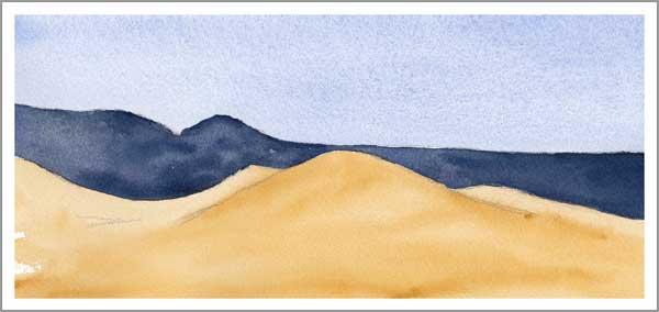 Mingus Day #55. 5.25 x 12 in. watercolor on Arches 140 lb. cold pressed paper. © 2018 Sheila Delgado.