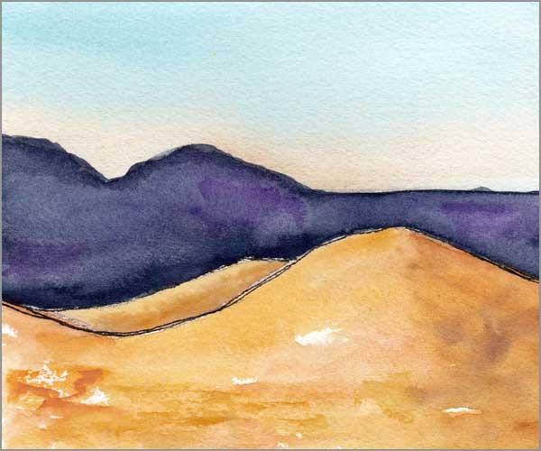 Mingus Day #56. 5 x 6 in. watercolor on Arches 140 lb. cold pressed paper. © 2018 Sheila Delgado.
