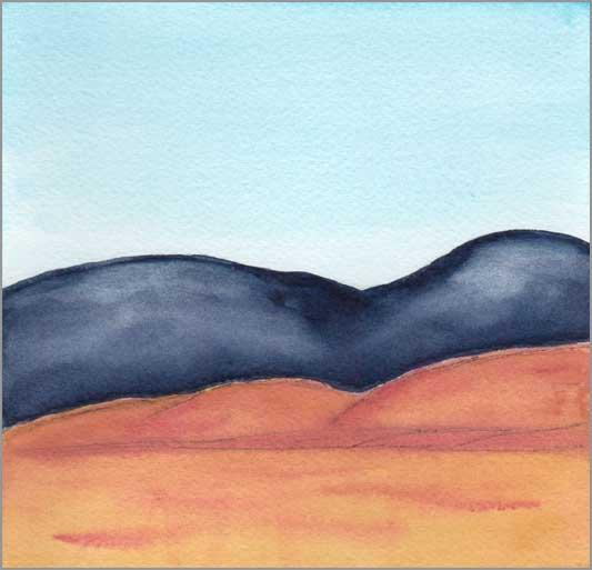 Mingus Day #72. 5.75 x 5.75 in. watercolor on Arches 140 lb. cold pressed paper. © 2018 Sheila Delgado.