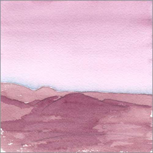 Mingus Day #75. 5.5 x 5.5 in. watercolor on Arches 140 lb. cold pressed paper. © 2018 Sheila Delgado.