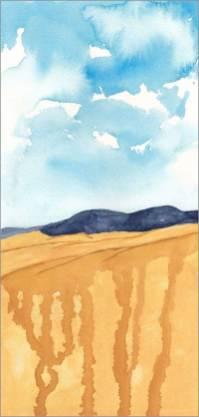 Mingus Day #79. 5 x 11.5 in. watercolor on Arches 140 lb. cold pressed paper. © 2018 Sheila Delgado.