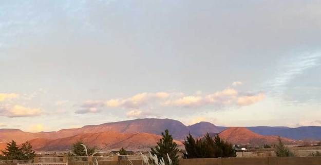 Setting Sun Bright Hills. 12-15-19