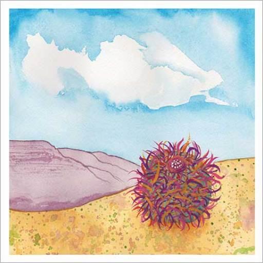 Day 30, FEB C.G., 8 x 8, watercolor on Arches cold-pressed 140 lb. paper. © 2020 Sheila Delgado.