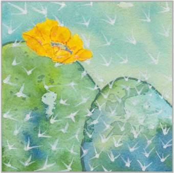 4 x 4, watercolor on Arches 140 lb. cold-pressed paper. © 2020 Sheila Delgado.
