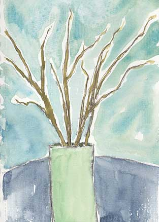 Day 13, 5 x 7, watercolor on paper. © 2020 Sheila Delgado.