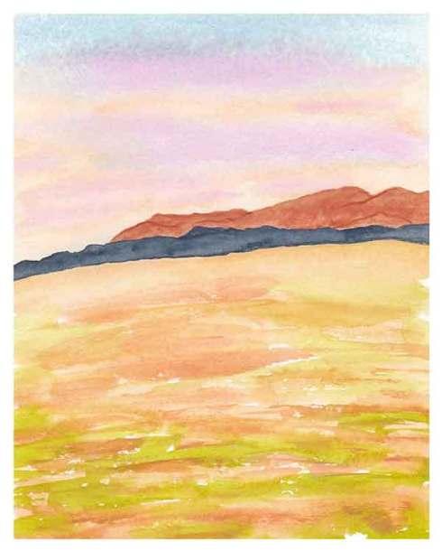 Day 7, Watercolor on 8 x 10 140 lb. Strathmore Cold Pressed Paper. © 2021 Sheila Delgado.