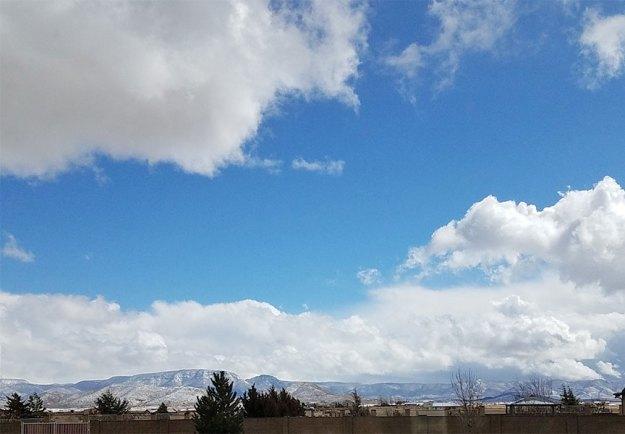 Blue Skies 3-12-21. © 2021 Sheila Delgado.