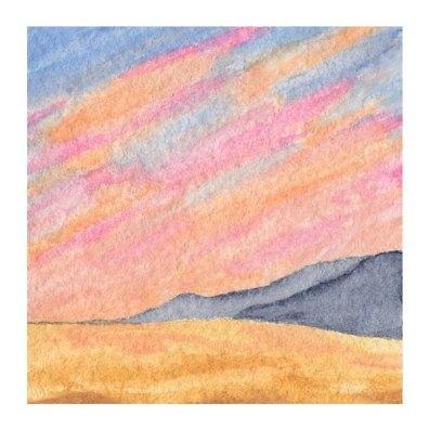 Day 6, WWM, 2 x 2 inch watercolor on Arches 140 lb. cold pressed paper. © 2021 Sheila Delgado.