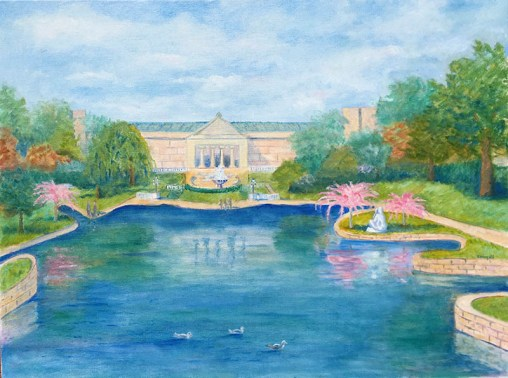 Wade Lagoon at Cleveland Museum of Art Springtime II