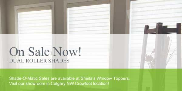 Banded Shades & Dual Roller Sahdes Sale Calgary