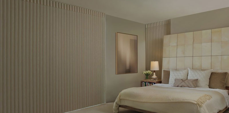 Hunter Douglas Luminette in Bedroom Blackout