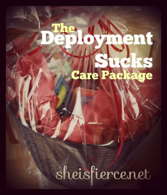 Deployment Sucks Care Package Title